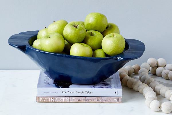 Vintage Navy Dough Bowl, Small