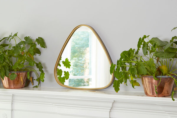 Gold Triangle Retro Mirror, Small