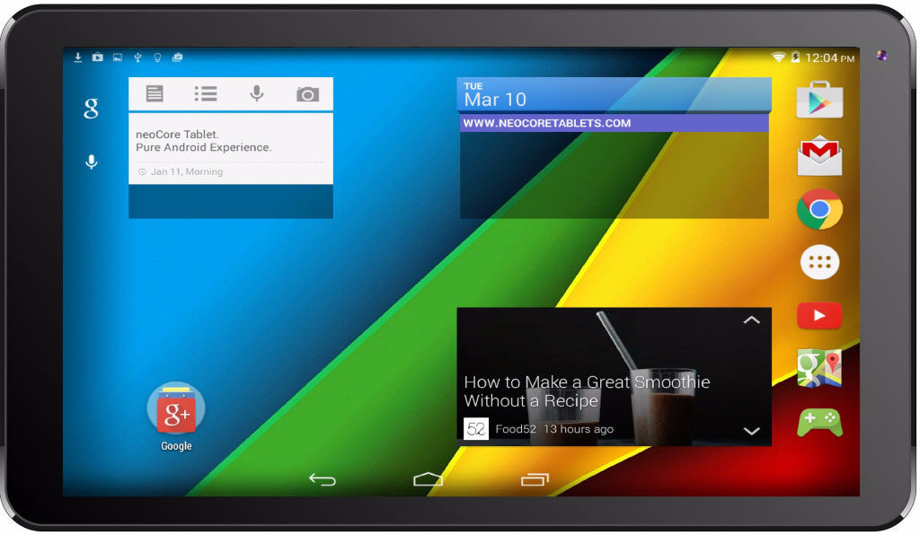 Refurbished  neocore N1 10.1'' Quad Core 1.3GHz Android Tablet GPS 1GB RAM - TforTablet