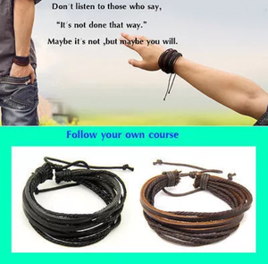 Surfer Tribal Leather Bracelet