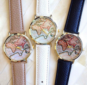 World Map Watch | White Band