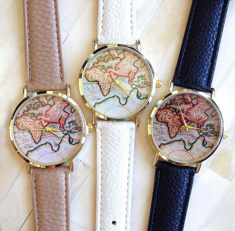 World Map Watch | Black Band