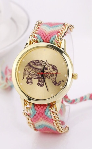 Divinity Elephant Braid Watch
