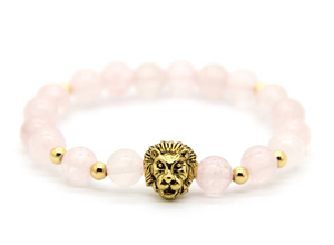 Pink Crystal Lion Head