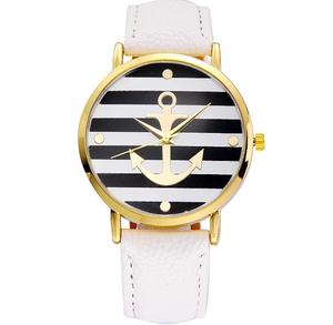 Anchor Leather Watch