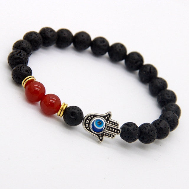 Energy Bead Lava Stone | Hand Of Hamsa