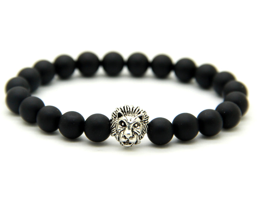 Matte Black Bead | Lion Head