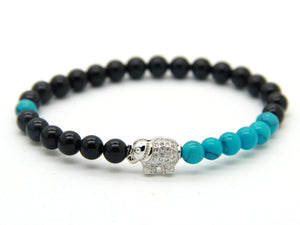 Natural Black Agate Stone | Elephant