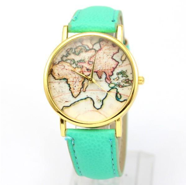 World Map Watch | Aqua Band