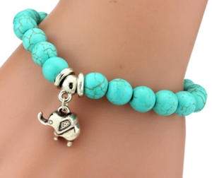 Earth Aqua Elephant Bracelet