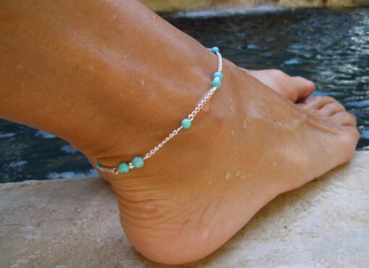 Summer Turquoise Anklet