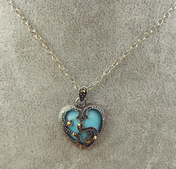 Heart Pendant | Turquoise Blue