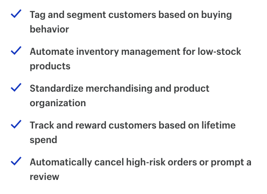 Shopify's recommendations for building an omnichannel strategy.