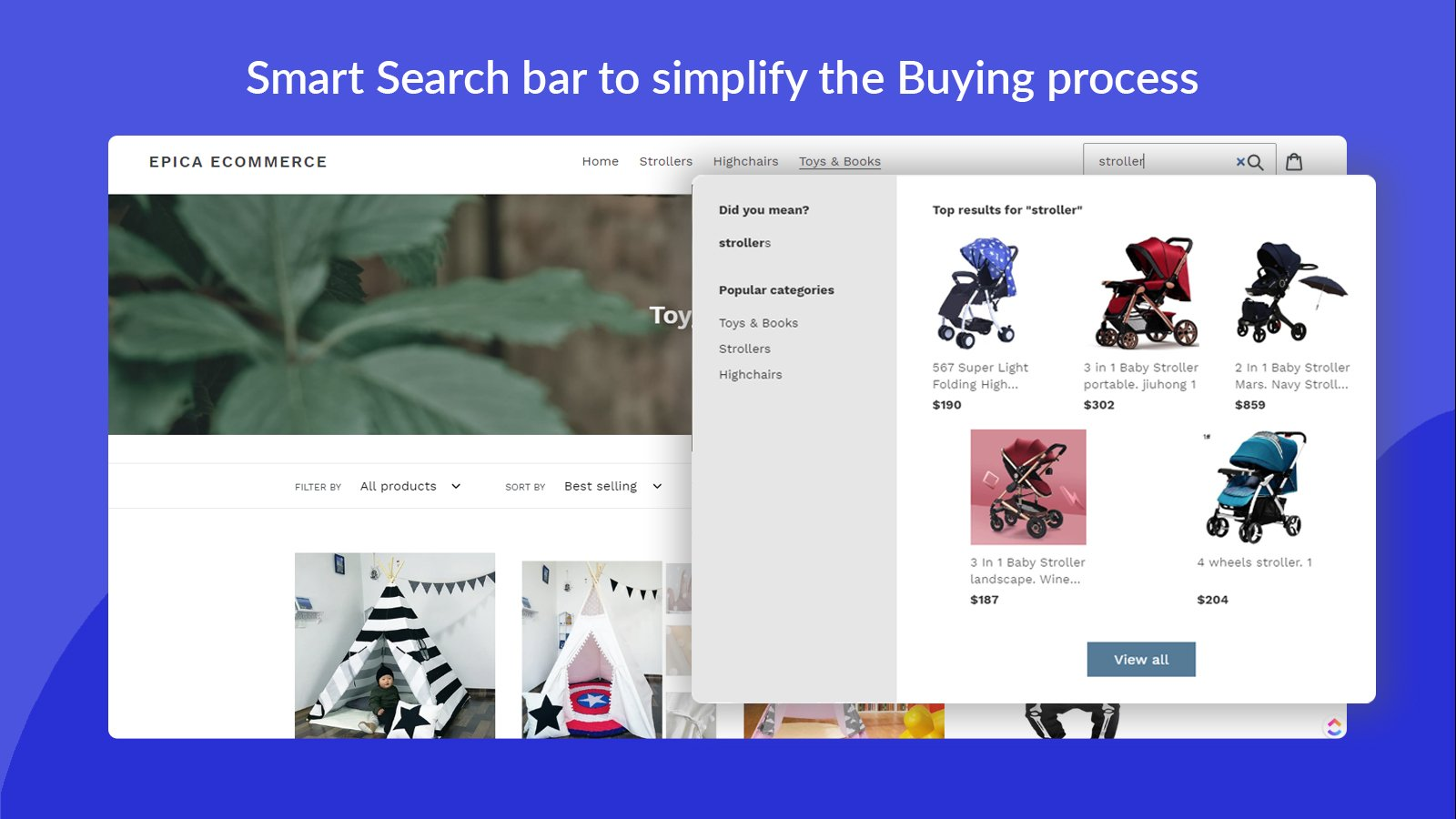 Smart Search Bar from Shopify