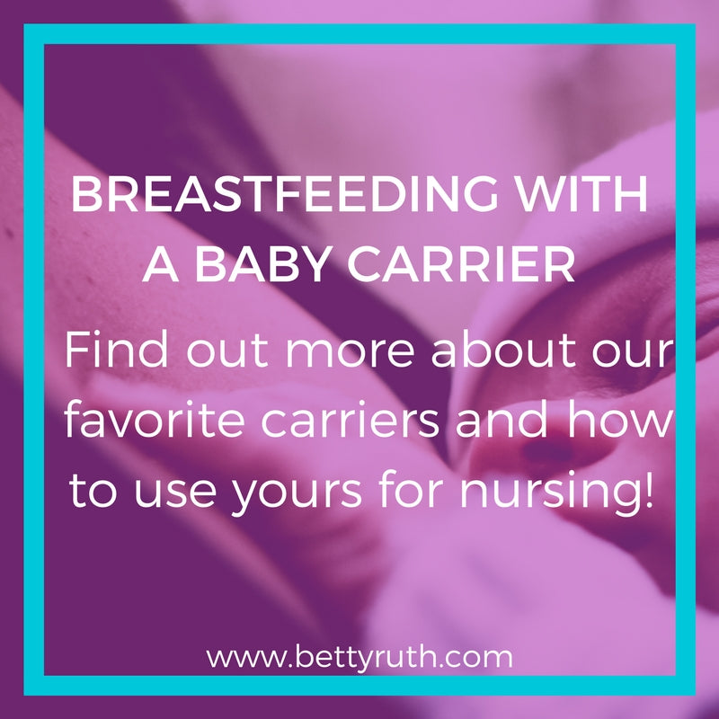 breastfeeding with baby carrier