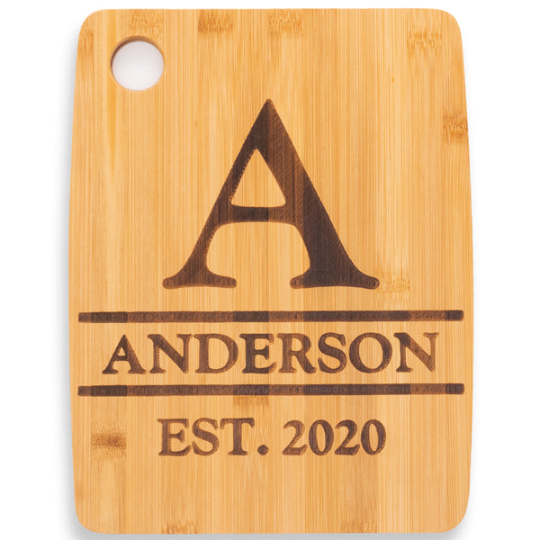 Personalized Cutting Board Monogram Design