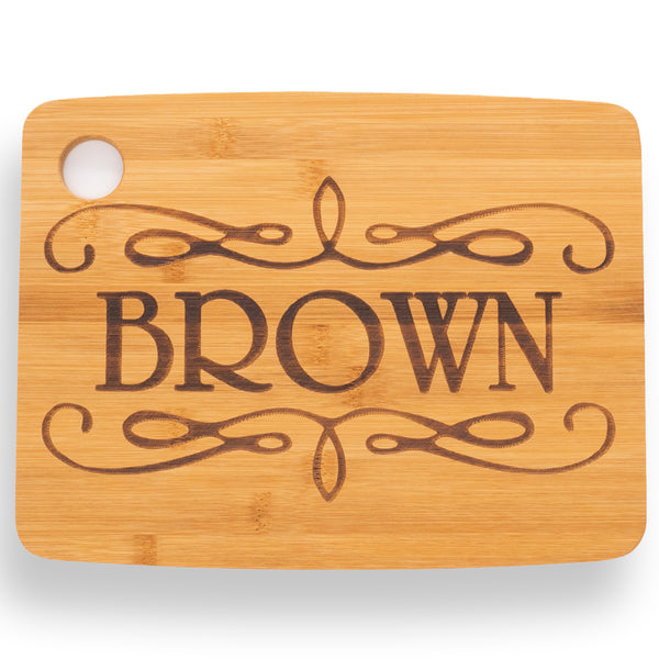 Personalized Cutting Board Scroll Design