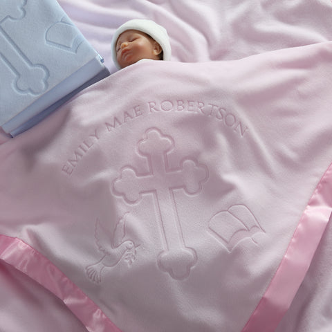 Baptism / Christening Baby Blanket (1 Line of Text)
