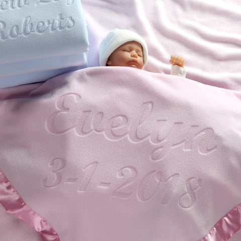 Personalized Baby Blankets (2 Text Lines), Boys or Girls