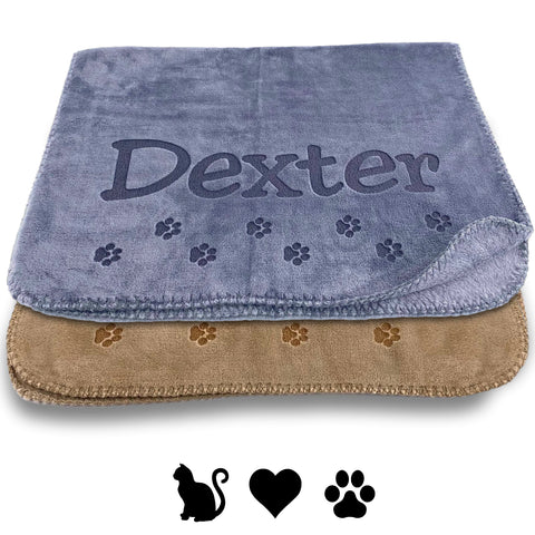 Personalized Cat Napping Blanket