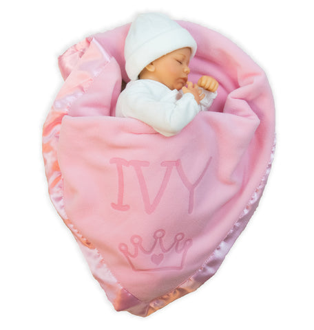 Princess Baby Blanket for Girls (1 Text Line)