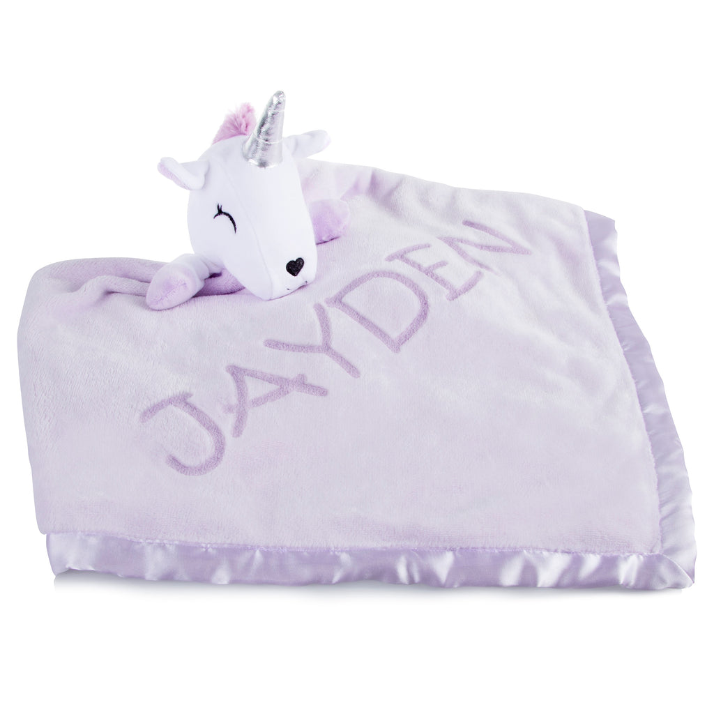 Plush Unicorn Baby Blanket for Girls: Super Soft Blanket with Unicorn Pillow Top