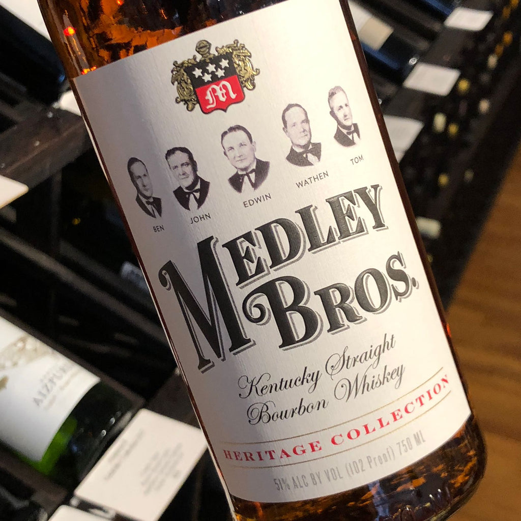 Charles Medley Bourbon Medley Brothers (102 Proof), Whiskey-USA-Bourbon, Charles Medley Distillery - MCF Rare Wine