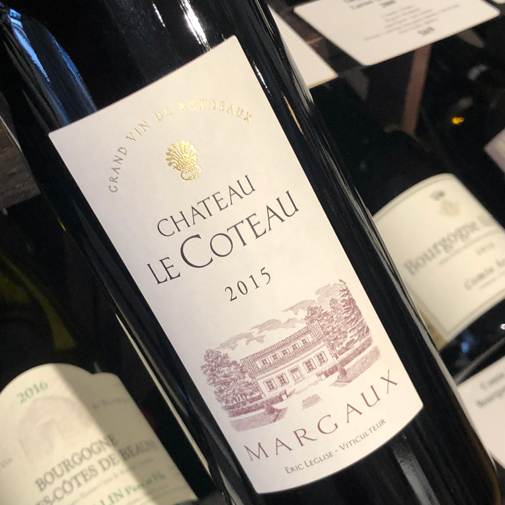 Chateau Le Coteau Margaux 2015, France-Bordeaux-Red, Le Coteau, Chateau - MCF Rare Wine