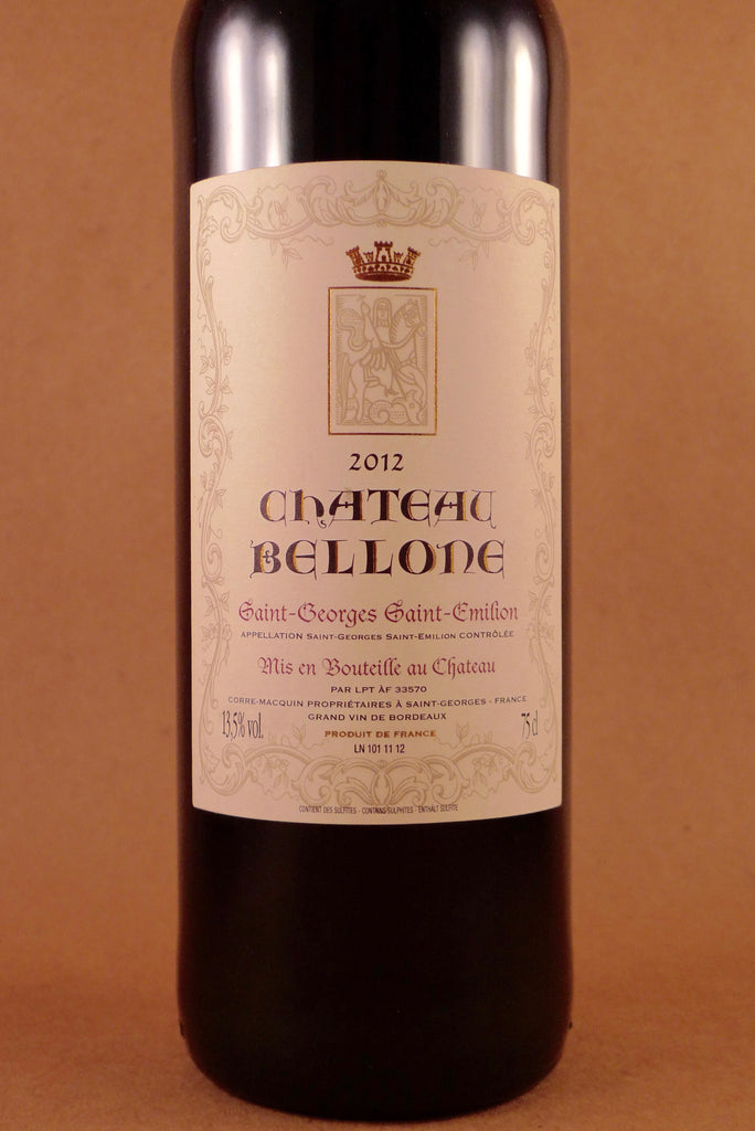 Chateau Bellone Saint Georges Saint Emilion 2012, France-Bordeaux-Red, Bellone, Chateau - MCF Rare Wine