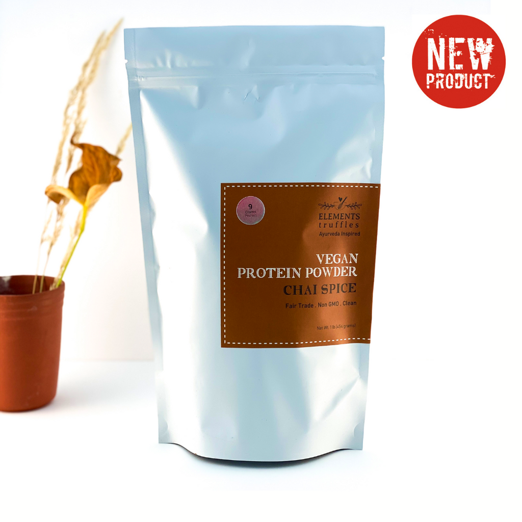 Ayurvedic Vegan Protein Powder with Immunity Boosting Chai Spice