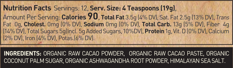 Ashwagandha Infused Drinking Chocolate Mix
