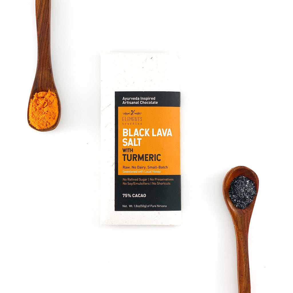 Black Lava Salt with Turmeric