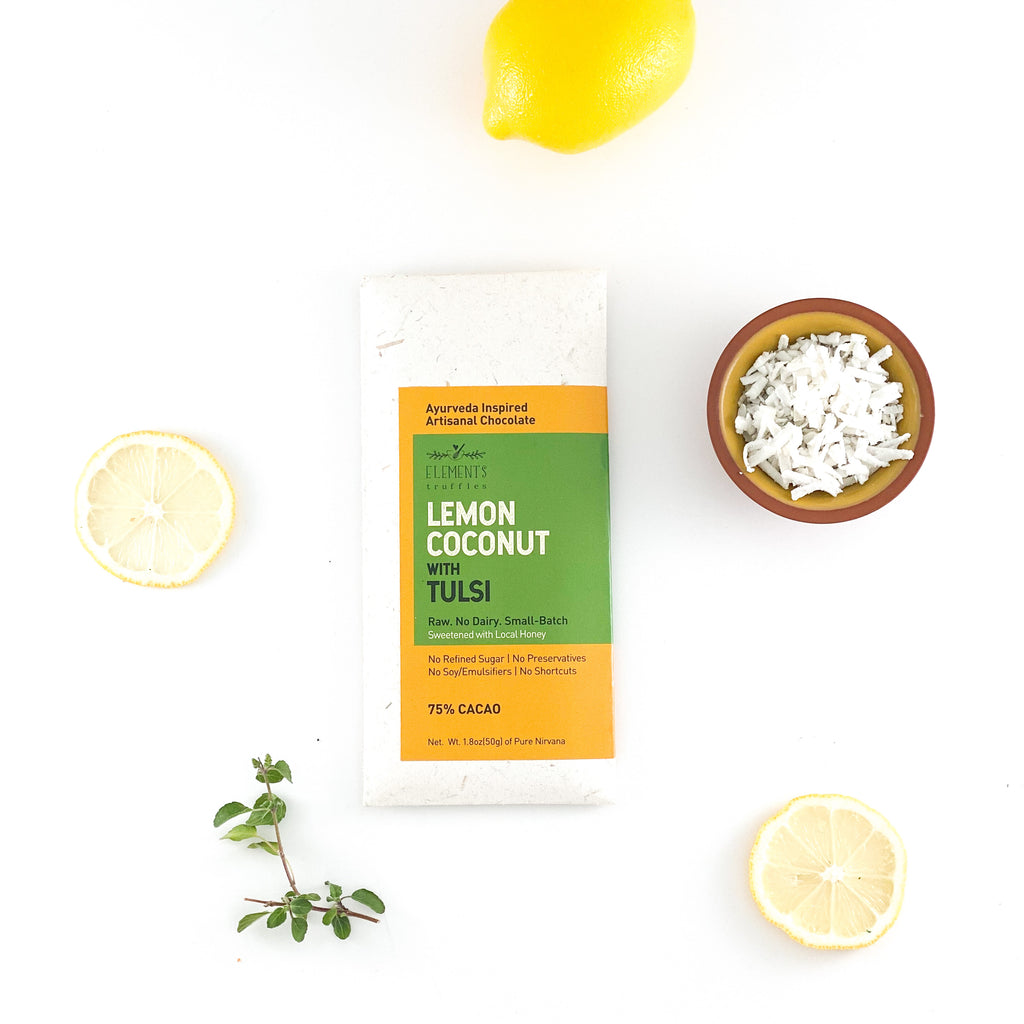 Lemon Coconut with Tulsi