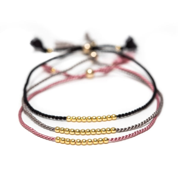 Message in a Bottle - gold friendship bracelets
