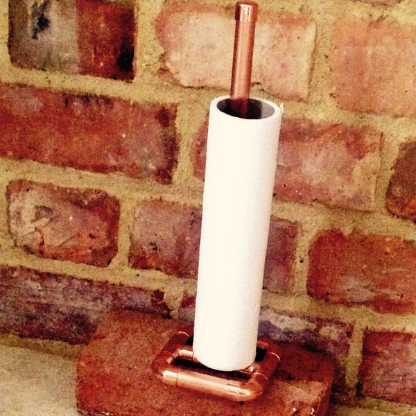 Copper Kitchen Roll Holder.