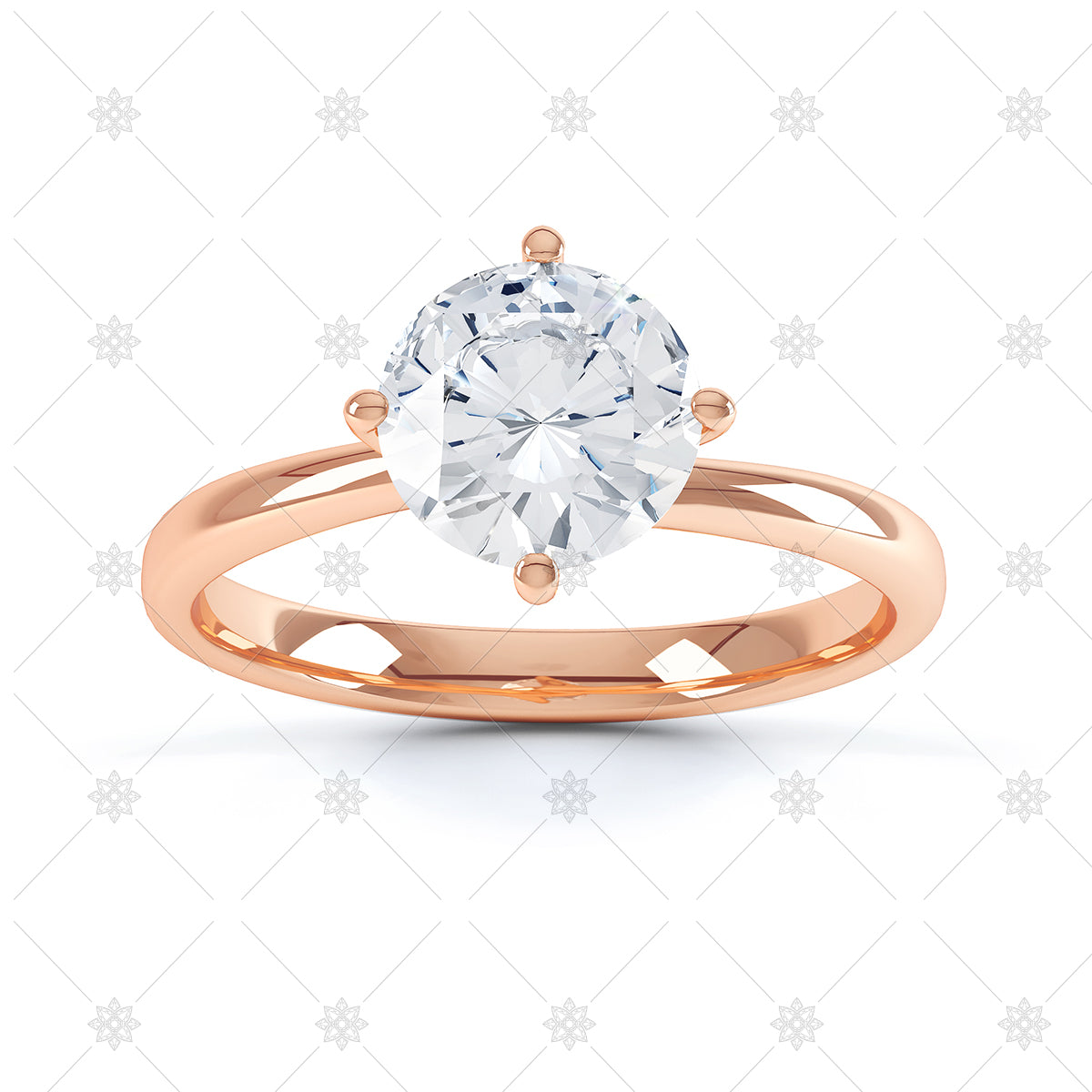Rose gold diamond ring image