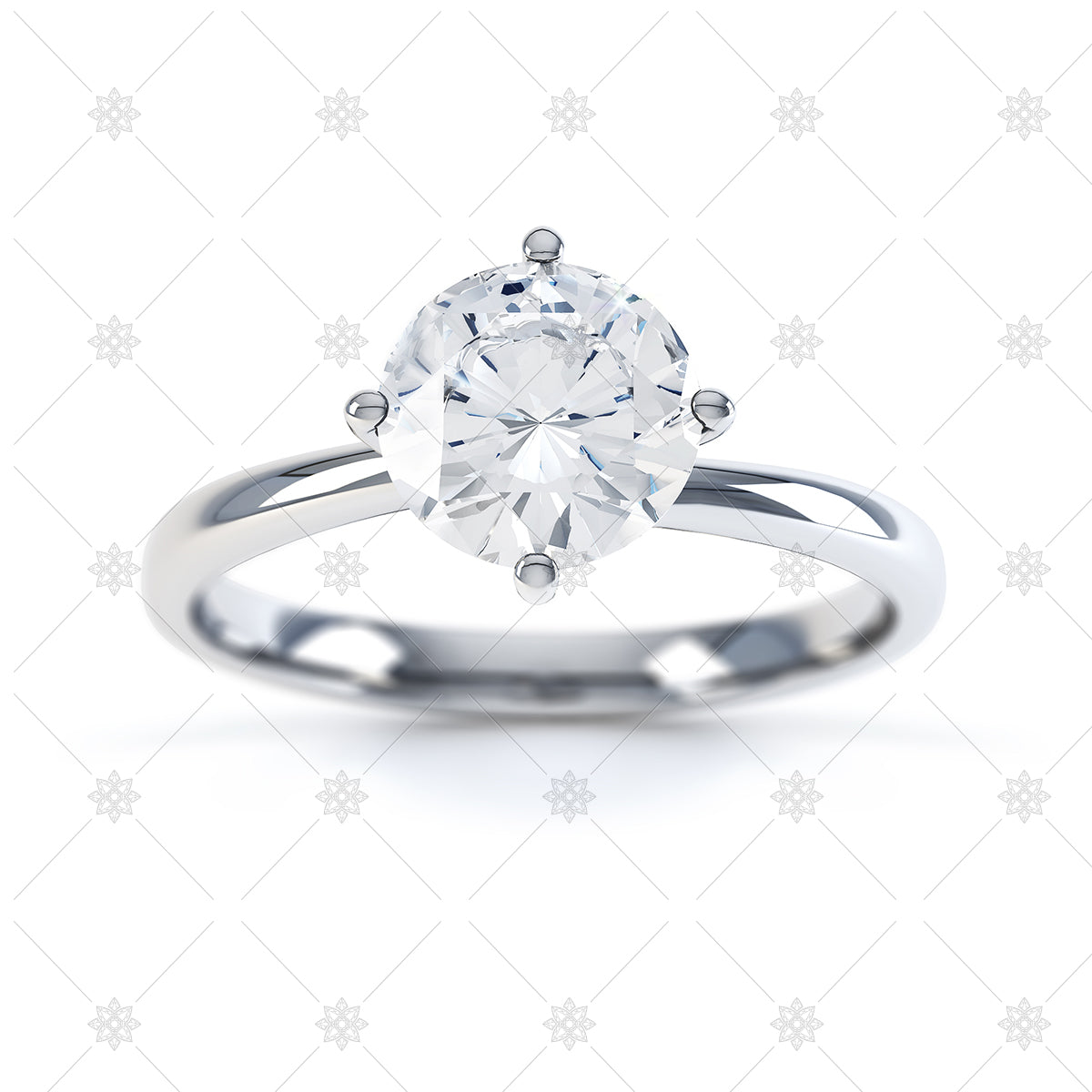 round brilliant cut diamond ring image