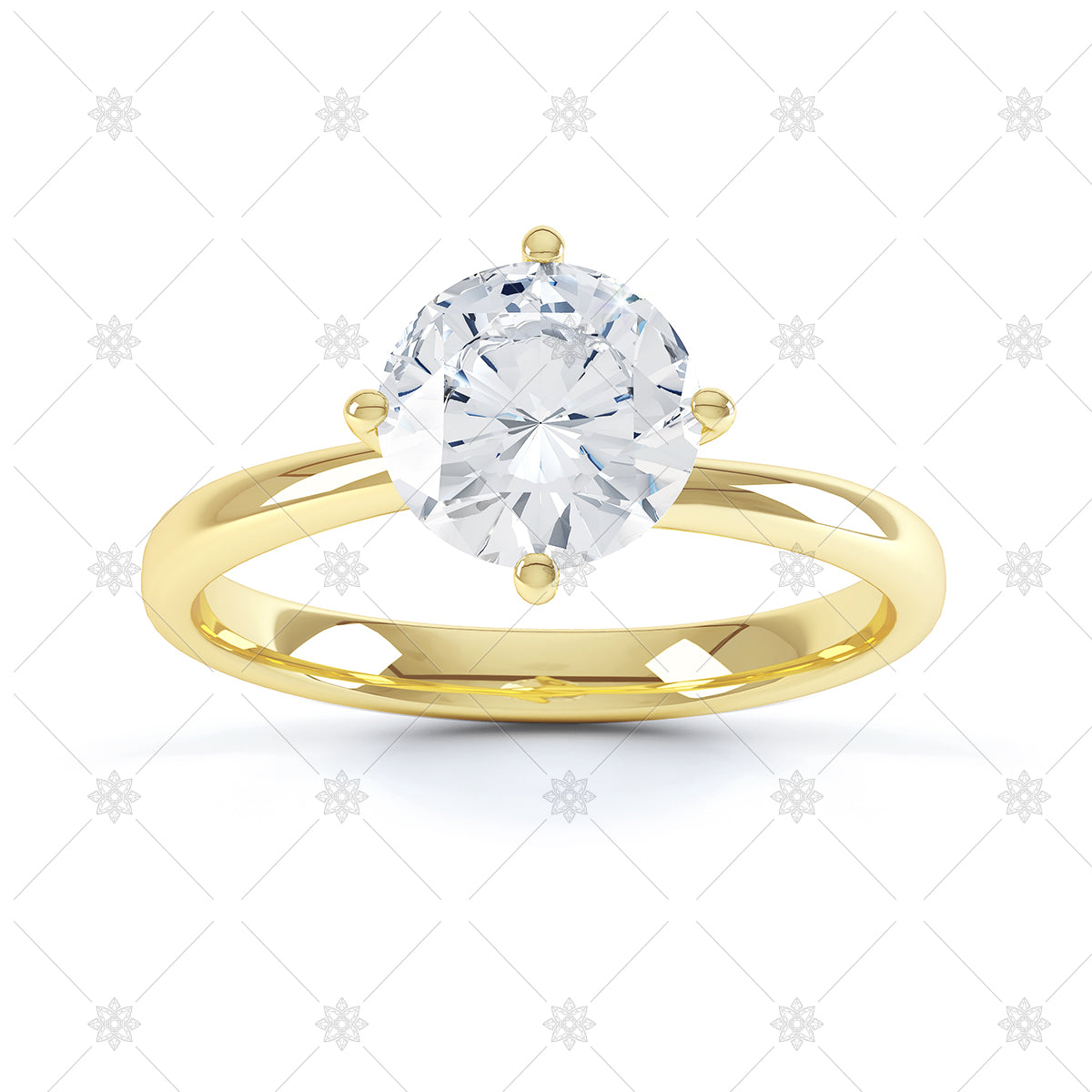round yellow gold diamond ring image