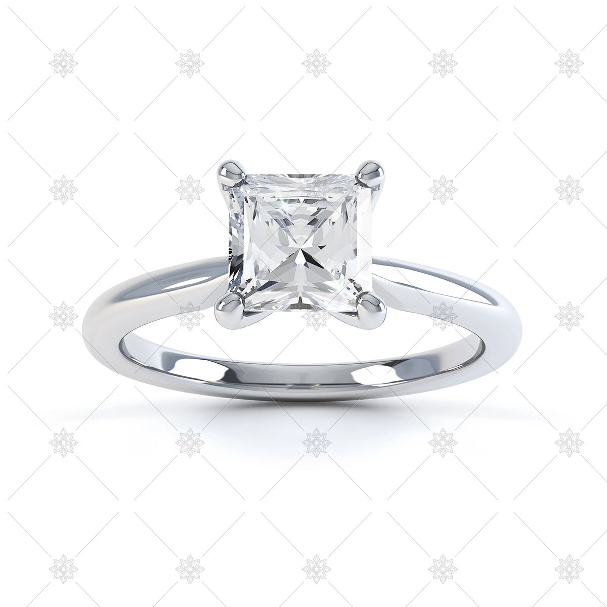 square 4 claw ring image