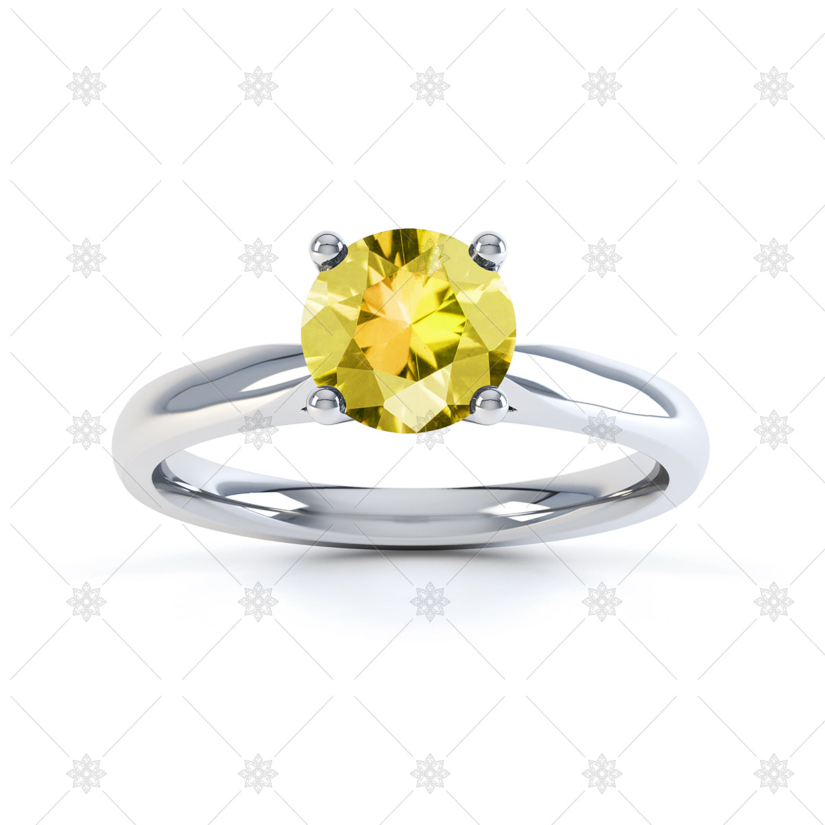 Lemon Quartz gemstone ring image