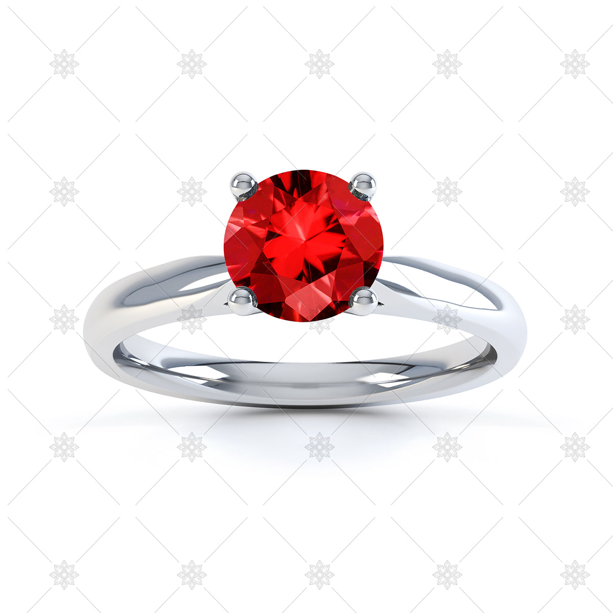 Red Ruby gemstone ring image