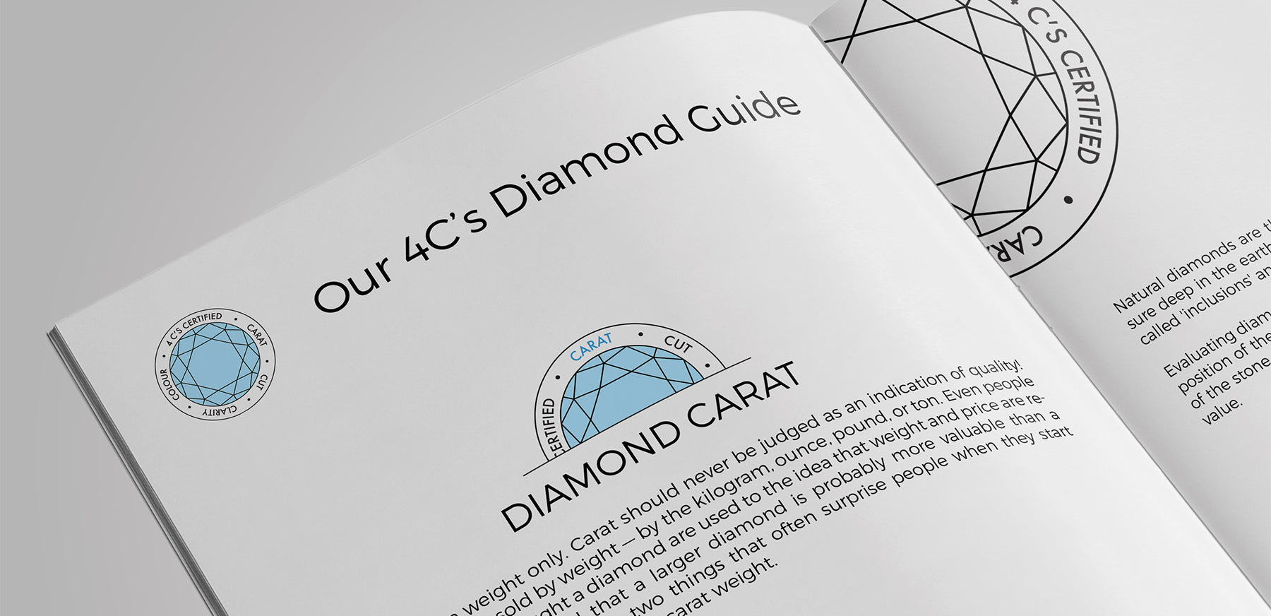 4C's diamond education icons for print