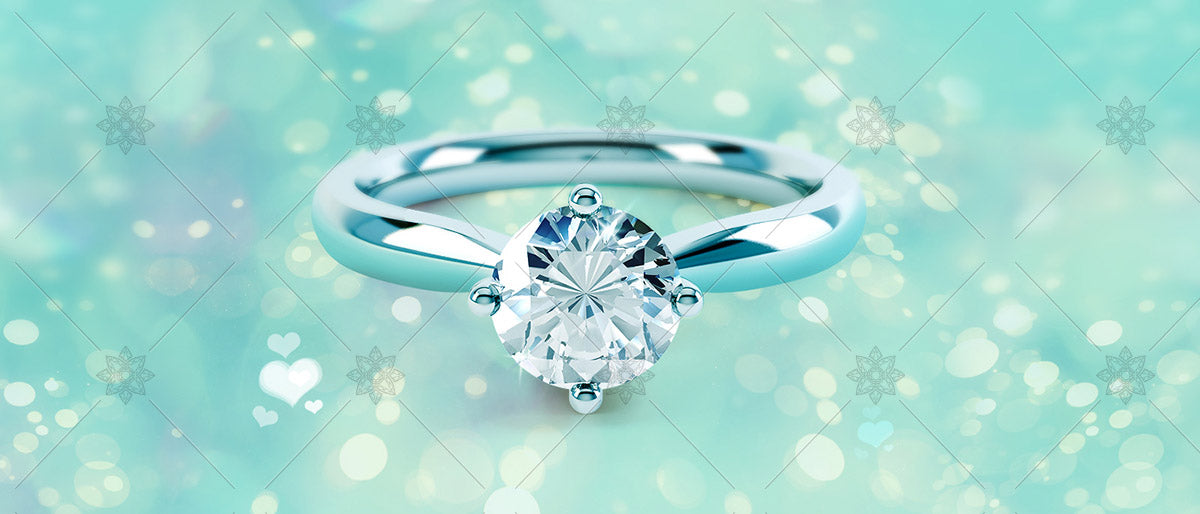 diamond ring on blue background banner image
