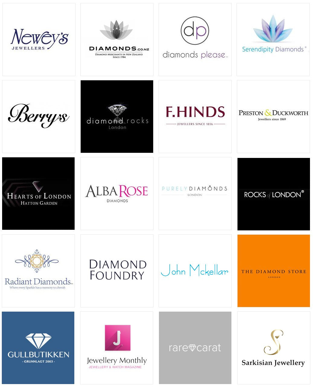 Diamond Showcase app clients