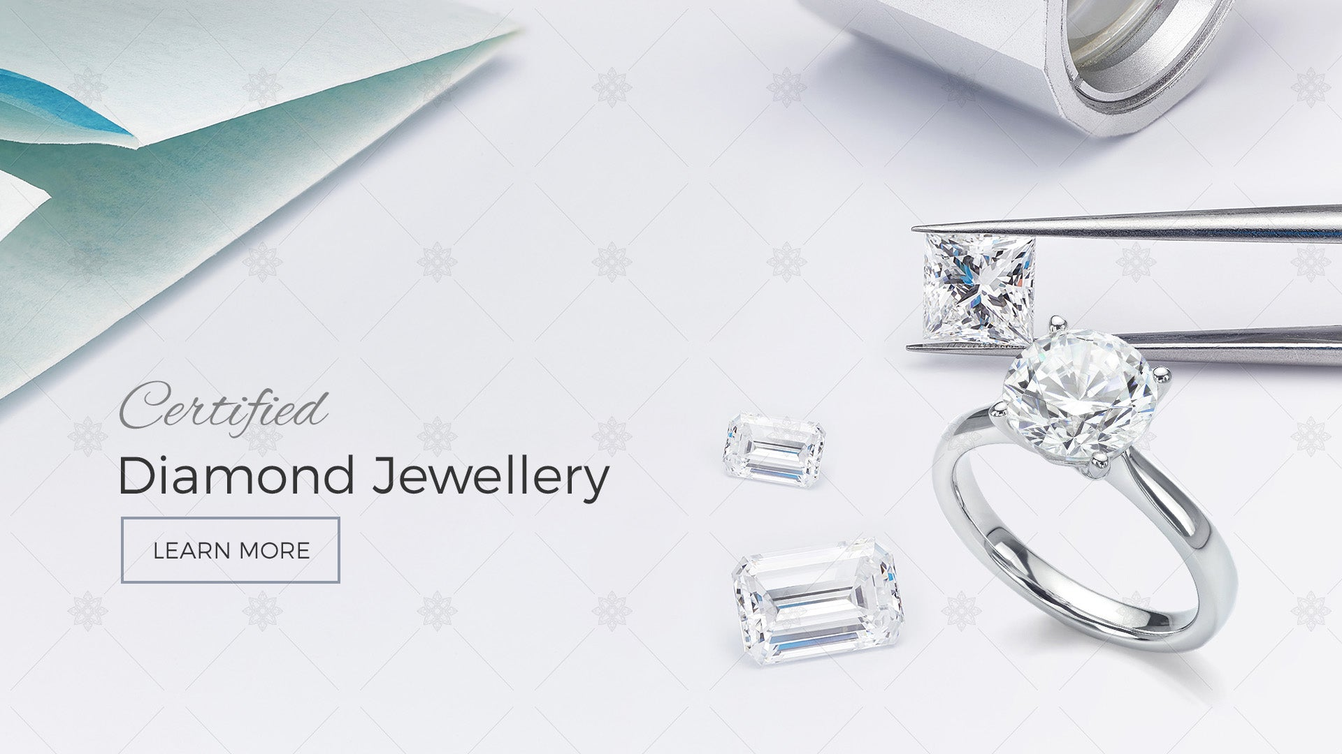 Certified Diamonds Website Banner design