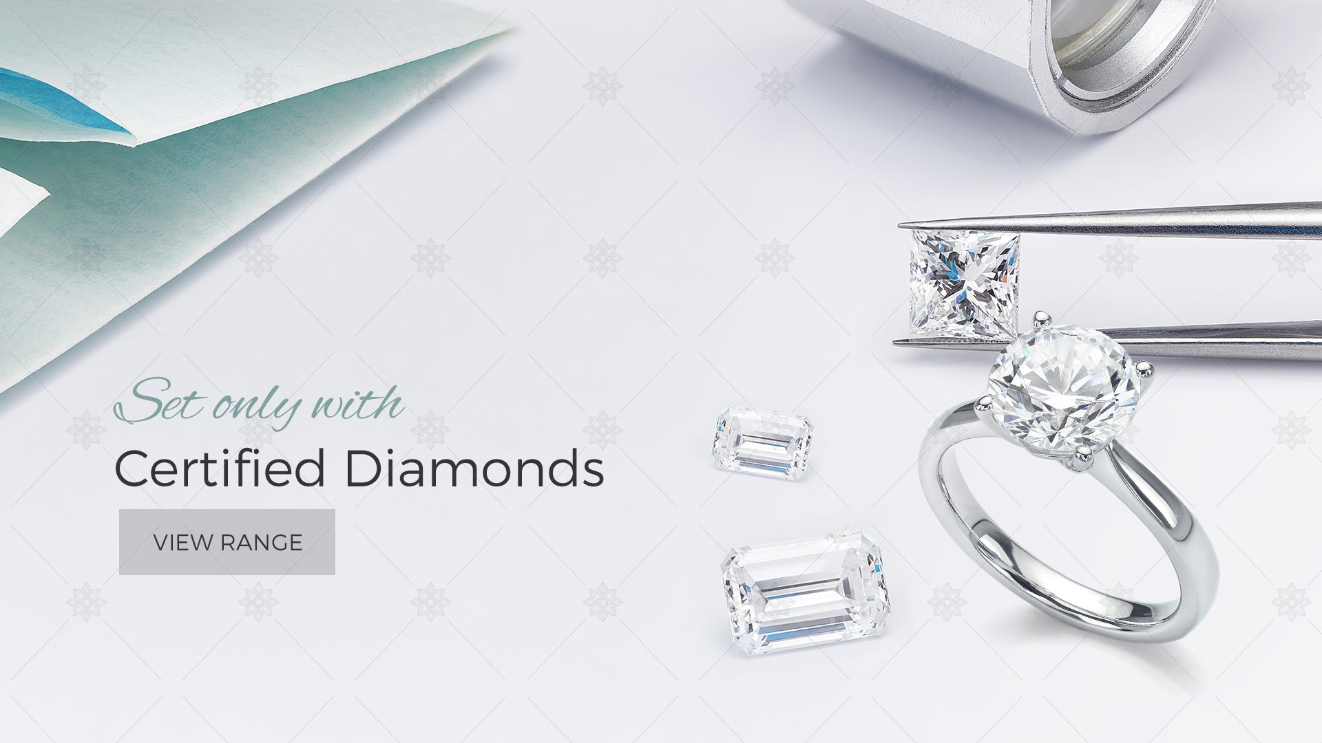 Diamond Jewellery Website Banner
