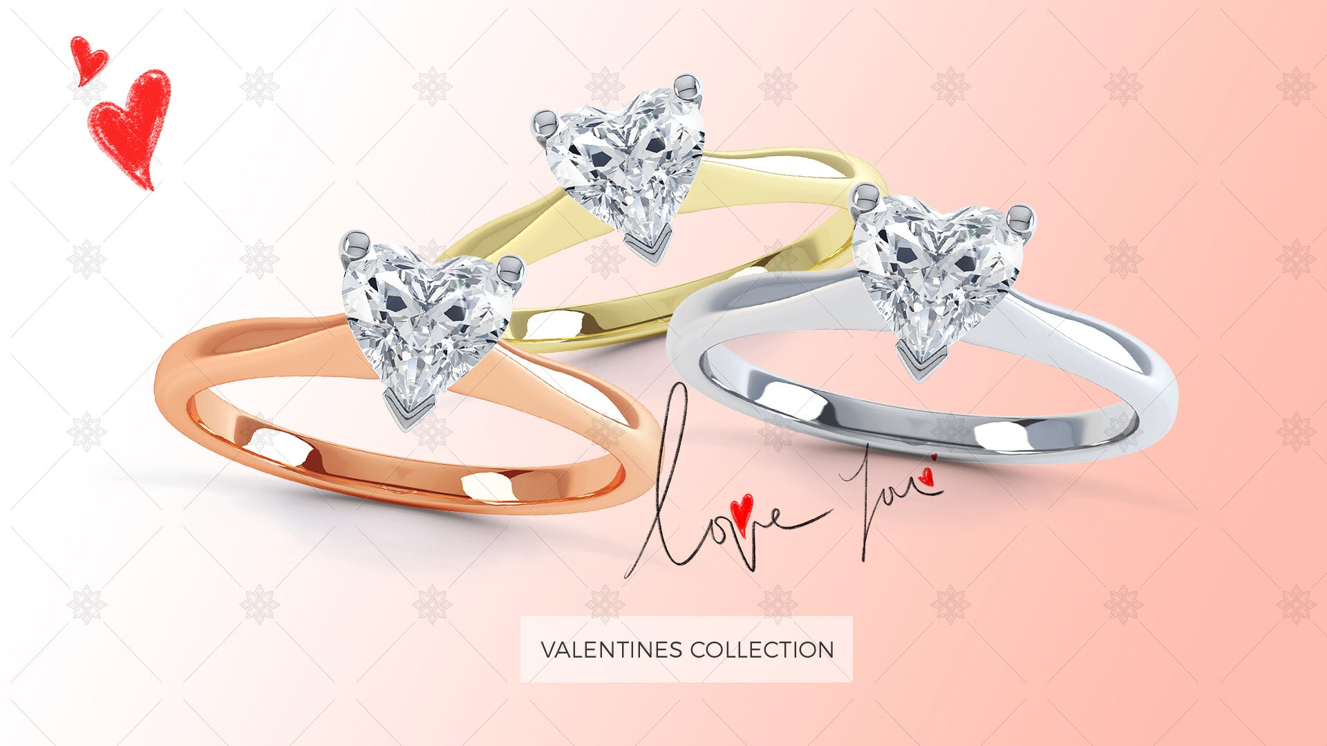 Valentine day website slider design