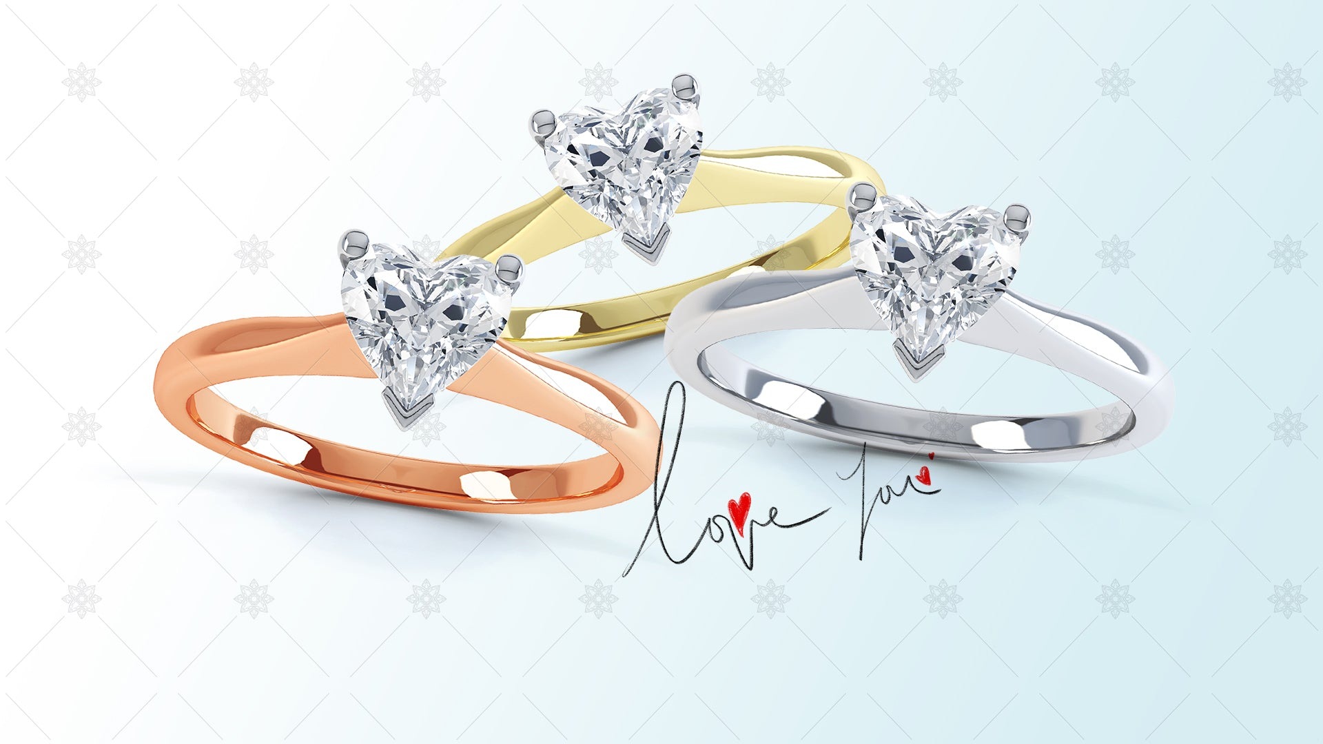 Valentines day jewellery website slider design