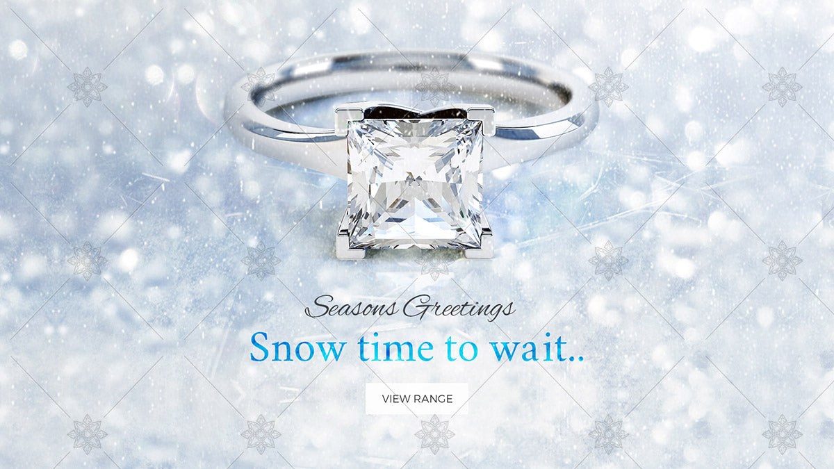 Winter themed engagement ring website banner