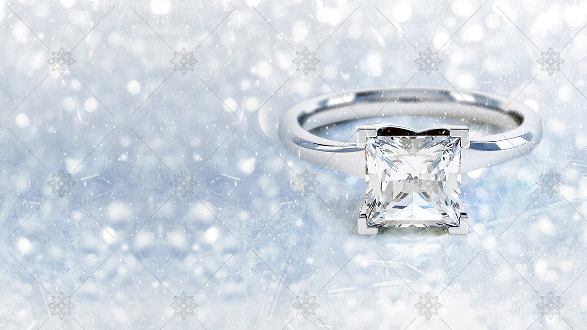 christmas themed engagement ring website banner